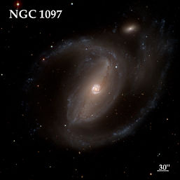 The barred spiral galaxy NGC 1097