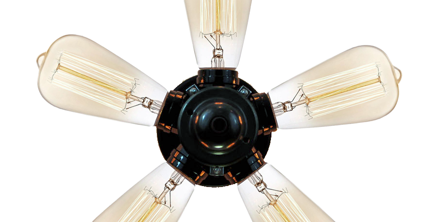 Propeller Style Ceiling Or Wall Lighting