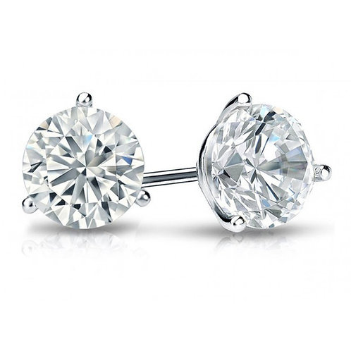 1 Carat Total Weight Martini Diamond Earrings
