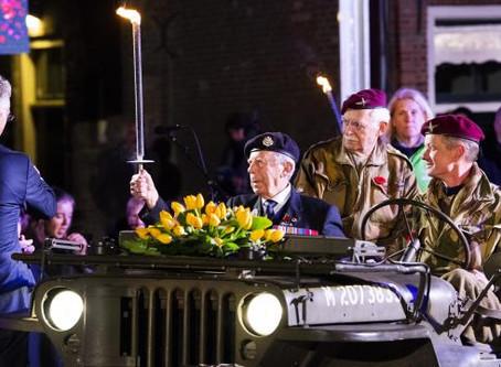 Liberation fire lit by mayor Wageningen