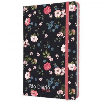 Caderno Pão Diário Notas – Floral Preta