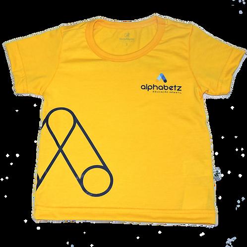 Camisa C/Manga Amarela Alphabetz
