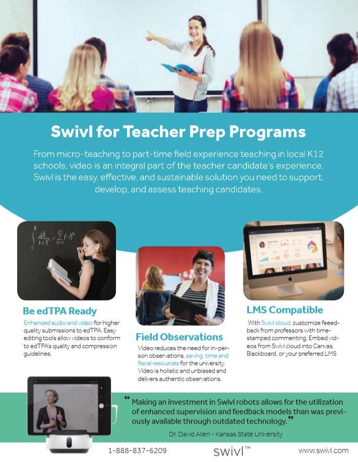 How swivl can help with teacher prep programs