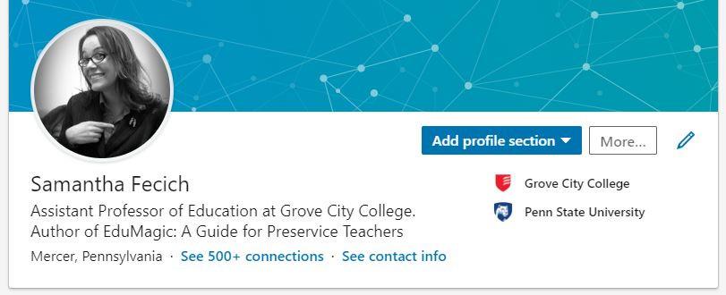 Samantha Fecich LinkedIn profile