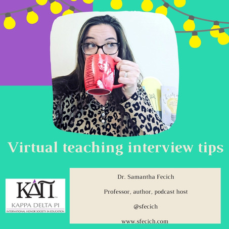 Virtual teaching interview tips