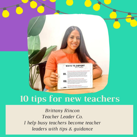 10 tips to help new teachers