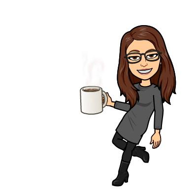 Bitmoji with coffee