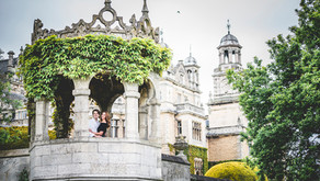 Engaged: Rachael & Alex // Thoresby Hall Courtyard  💍