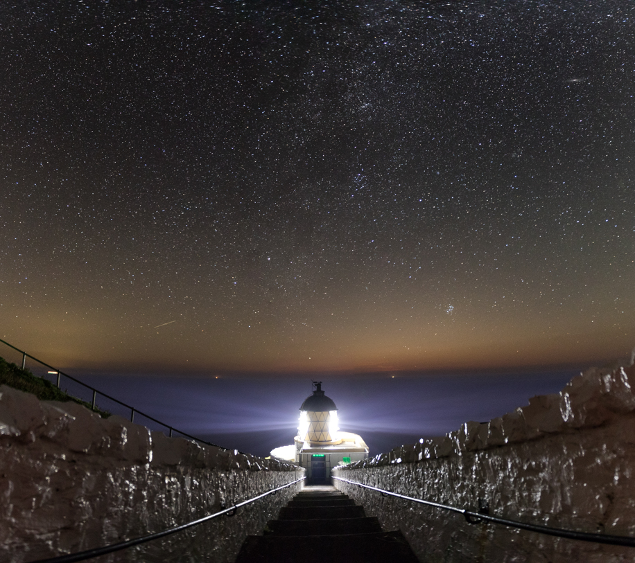 St Abbs Lighthouse stars