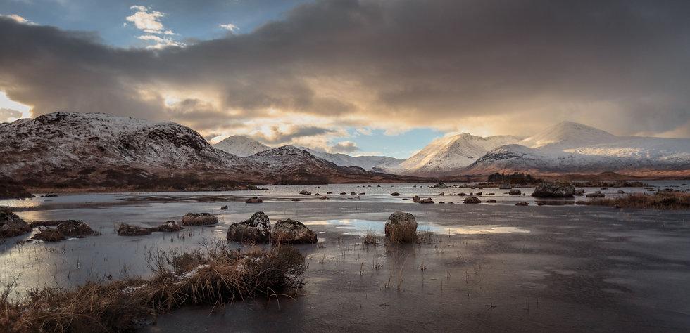 Frozen waters of Ranoch Moor