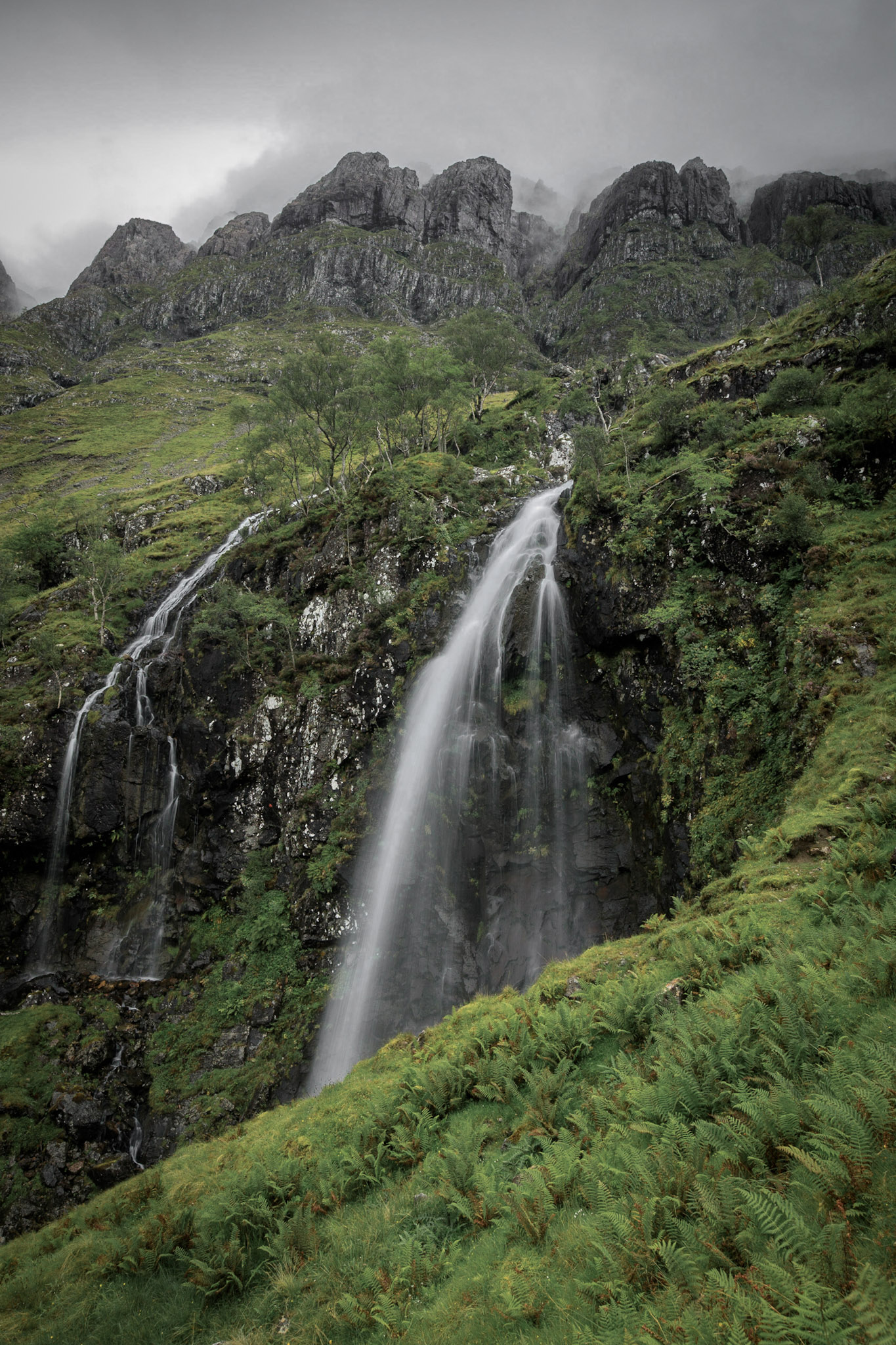 Achnambeithach Falls, Glencoe