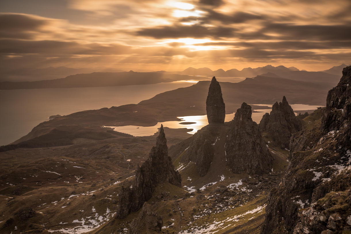 The storr top landscape