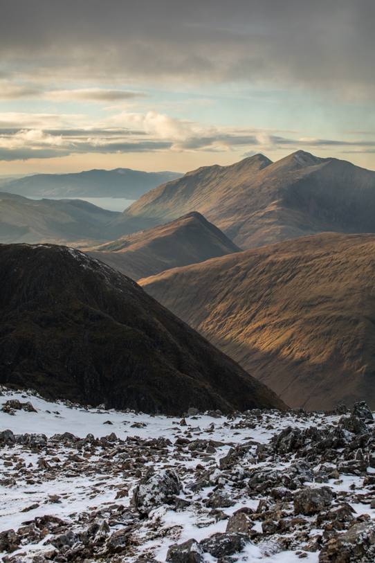 Bidean Nam Bian - Looking west