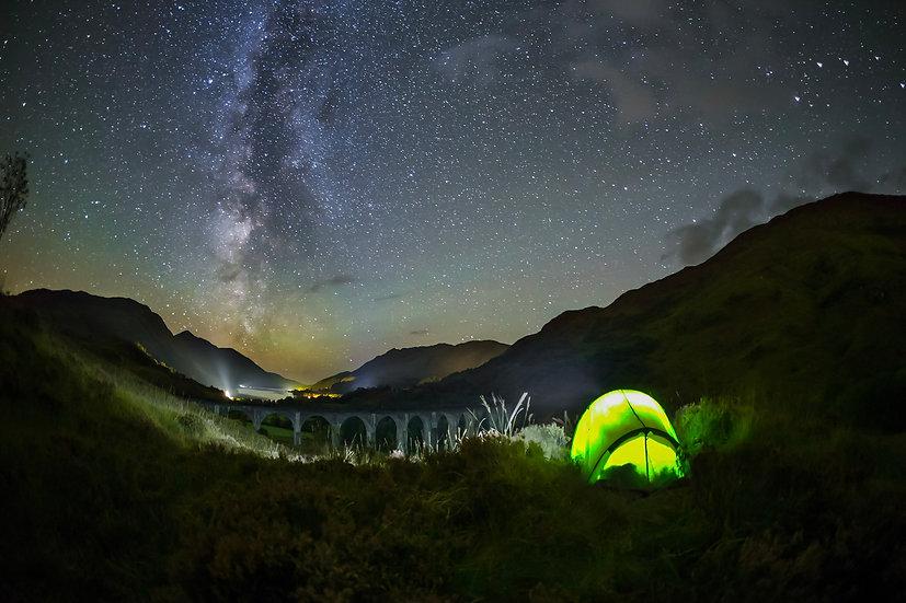 Tent at Glenfinnan Viaduct
