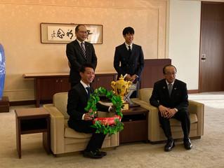 松井広島市長に表敬訪問に行って参りました。