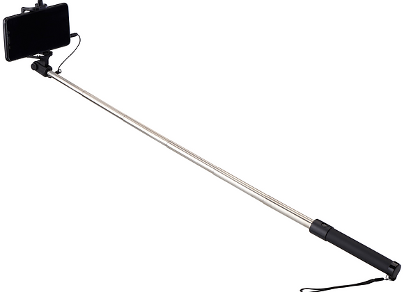 "ONN 28"" Wired Selfie Stick with 3.5mm Jack"
