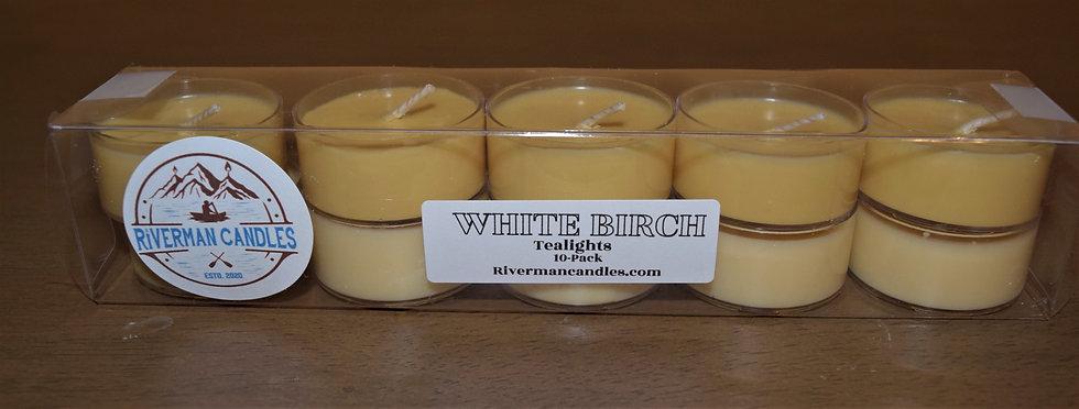 White Birch Scented Tealights - 10pk