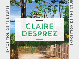 10 Décembre  🎨 Vernissage Claire Desprez 🎨