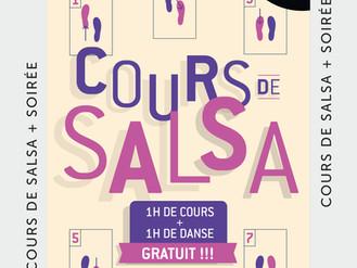 18 Oct. ** Cours de Salsa **