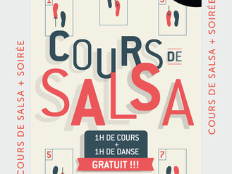 20 Dec. ** Cours de Salsa **