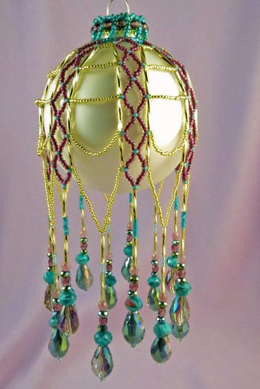Grand Finale Beaded Ornament Cover PDF Pattern Tutorial