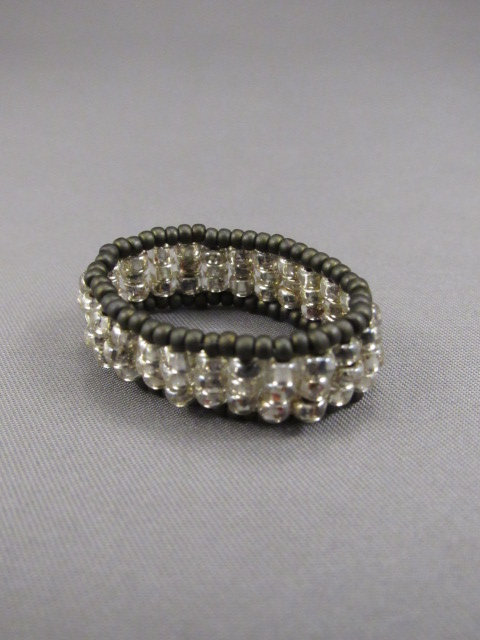 Crystal Clear & Brown Ring