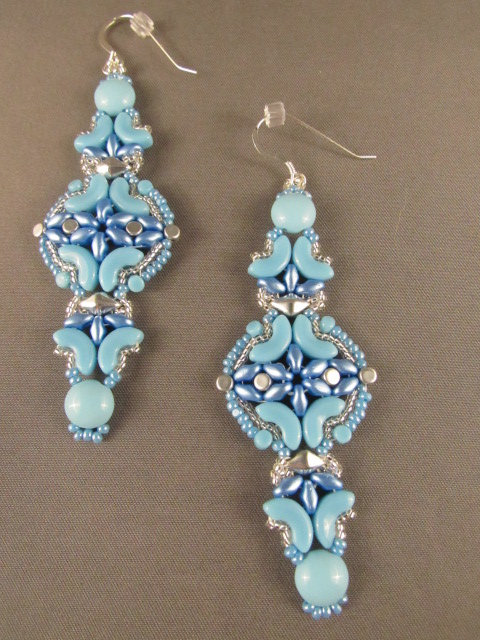 Blue Arc Earrings