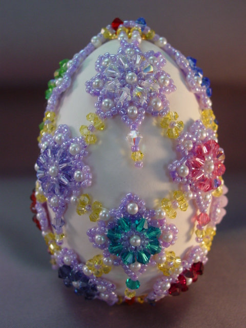 Crystal Flower Covered Goose Egg