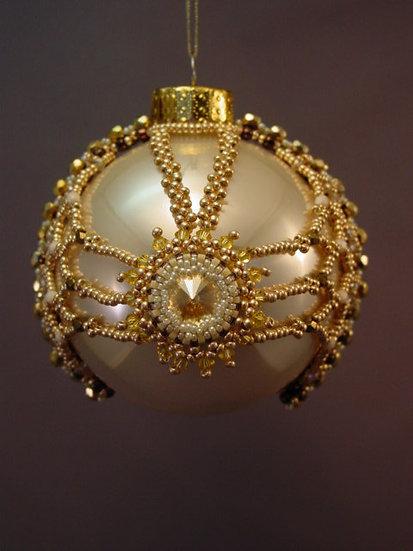 Coronation Beaded Ornament PDF Patten Tutorial