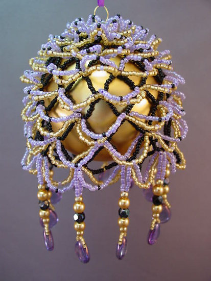 It's So Fluffay Beaded Ornament Cover PDF Pattern Tutorial