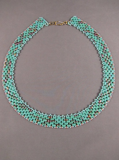 Turquoise & Gold Choker