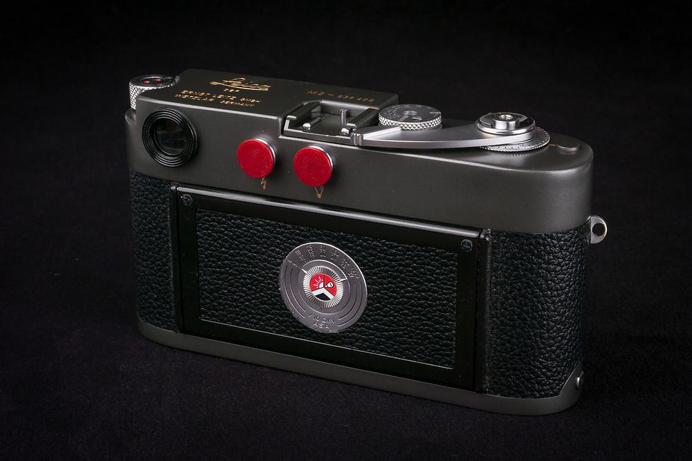 Leica M2 Grey Repaint back view cameraworks-uk