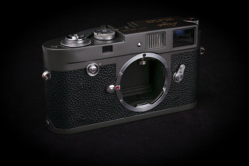 Leica M2 Grey Repaint Front View cameraworks-uk