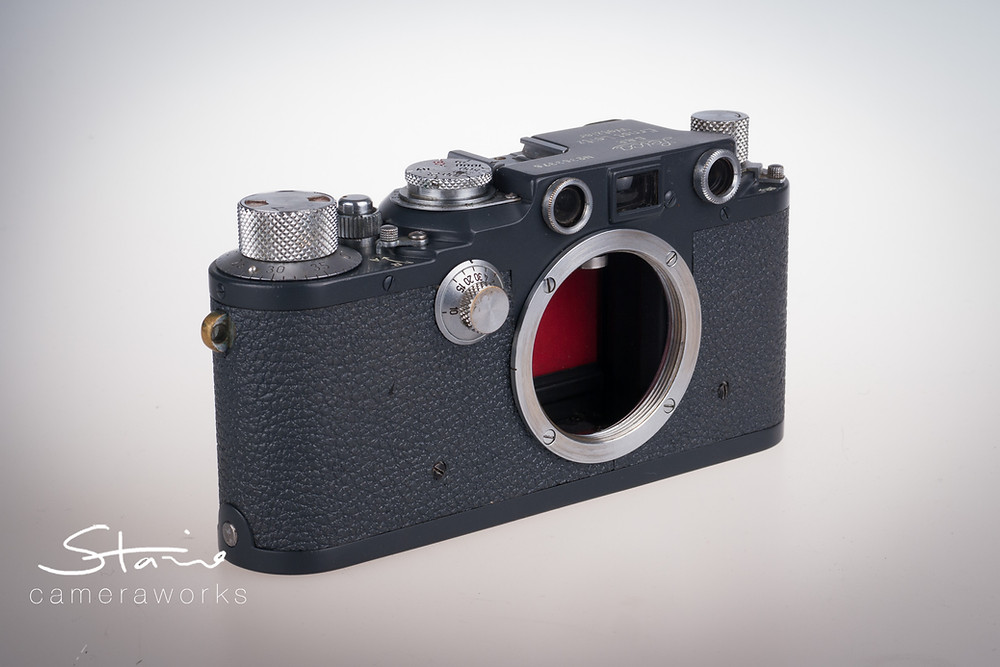 Leica IIIc restored by cameraworks-uk, Red Blinds