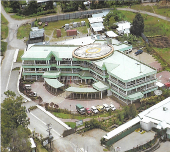 3 storey building with helipad