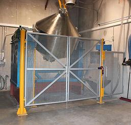 Cone Mixer safety perimeter guarding