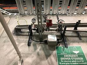 chemical batching system flowmeter ad valve