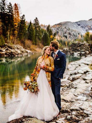 Vibrant Pendleton Elopement Inspiration Near Glacier National Park