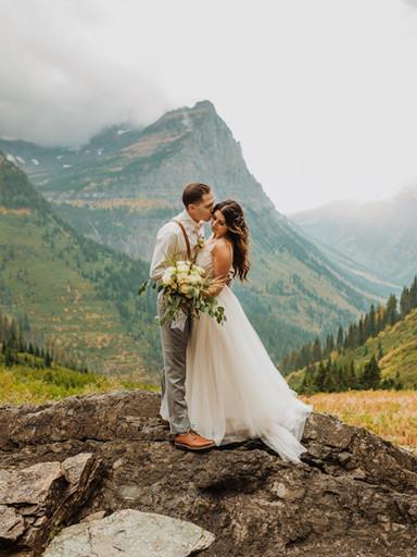 Gorgeous Fall Elopement in Glacier Park | Allix + Jordan