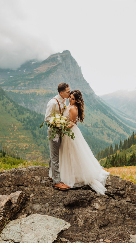 boho elopement in glacier park | Allix + Jordan