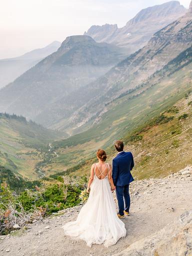 Epic Summer Elopement in Glacier Park | Karen + Michael