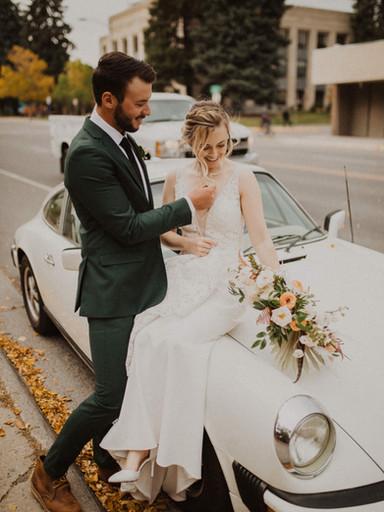 Urban Fall Wedding In Bozeman | Michelle + Neil