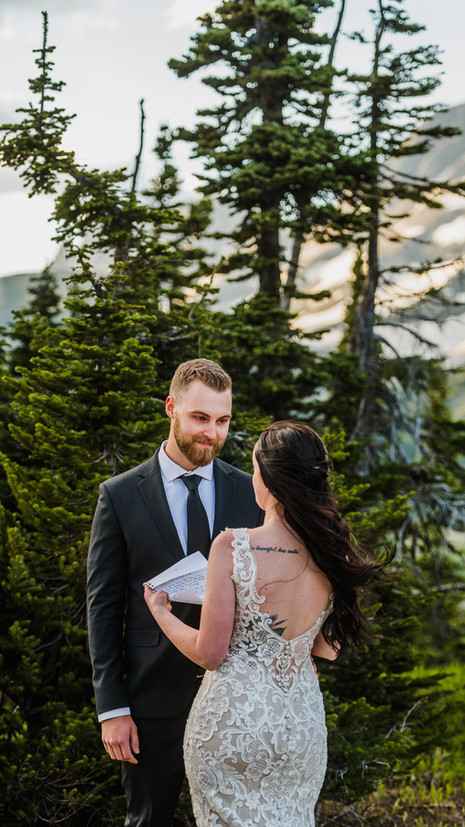 sunset elopement in glacier park | Mikayla + Mathew