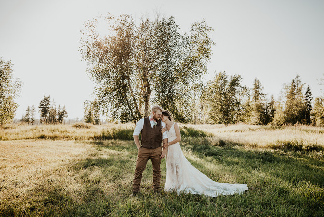 Grace & Travis: An intimate country wedding in Kalispell