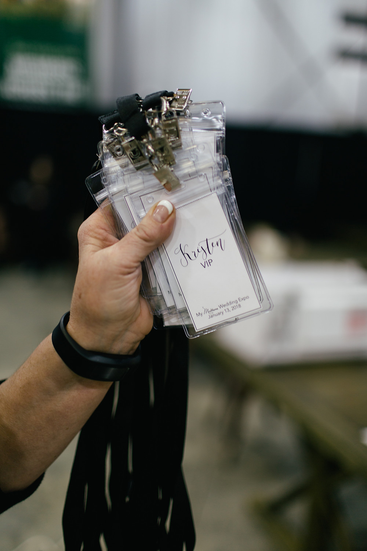 VIP badges; Jennifer Mooney Photography