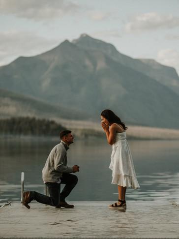 Stunning Proposal At Lake McDonald In Glacier National Park