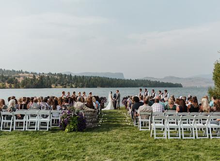 Ashleigh & Lathan: A beautiful summer wedding on Flathead Lake