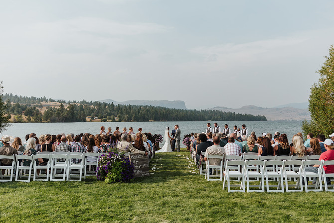 Ashleigh & Lathan: A beautiful summer wedding on Flathead Lake