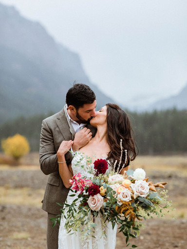 Beautiful Intimate Bozeman Mountain Elopement