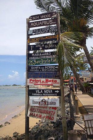 Cartaz para turismo na Segunda Praia do Morro de São Paulo em Salvador da Bahia (Brasil)